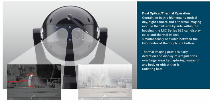 A2Z Security Cameras - Bosch MIC-612 Dual Sensor Thermal Infrared 36x CDD PTZ Camera (http://www.a2zsecuritycameras.com/bosch-mic612-thermal-ir-infrared-ptz-camera/)