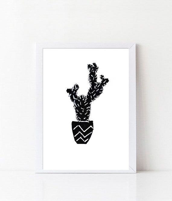Kaktus 2 / Plant Cactus Tropical Fine Art-Print by Digitallab
