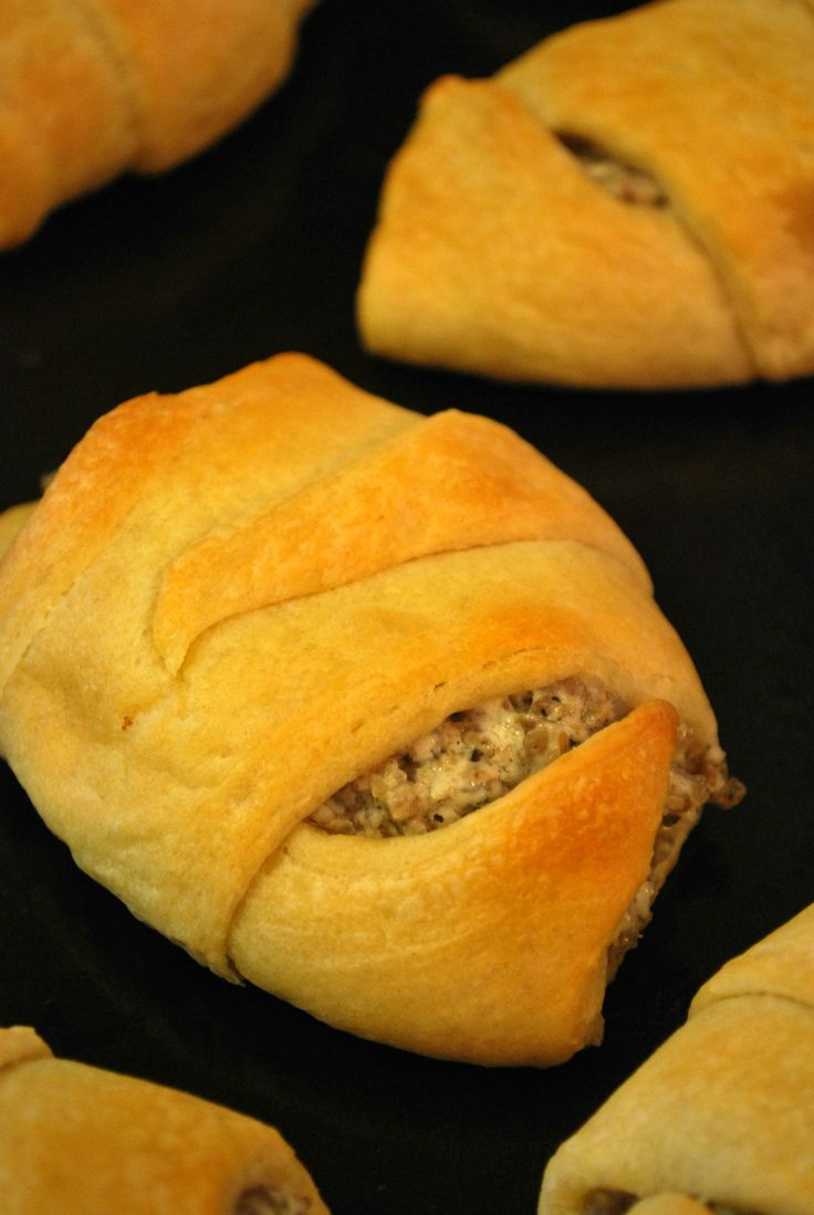 These sausage crescent rolls are a great snack for tailgates or a breakfast on the go.
