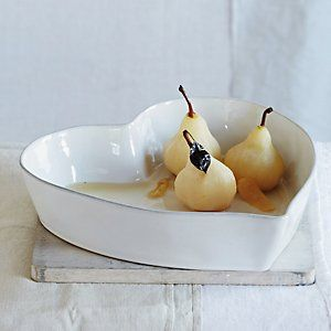Stoneware Heart Oven Dish - Large | The White Company