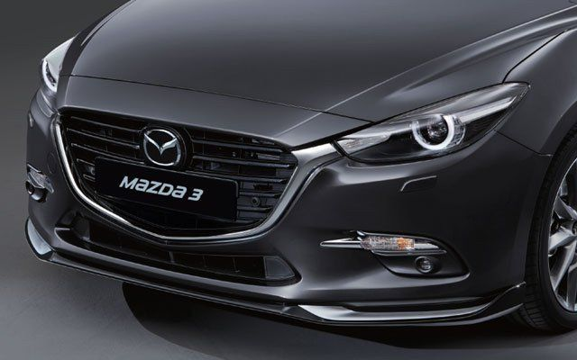 Aero Kit Jet Black and Silver - Front Air Dam | Mazda 3 Sport (Hatchback, 5-Door) (2017)