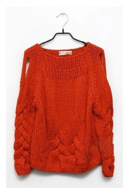 Cable knit jumper/cardigan