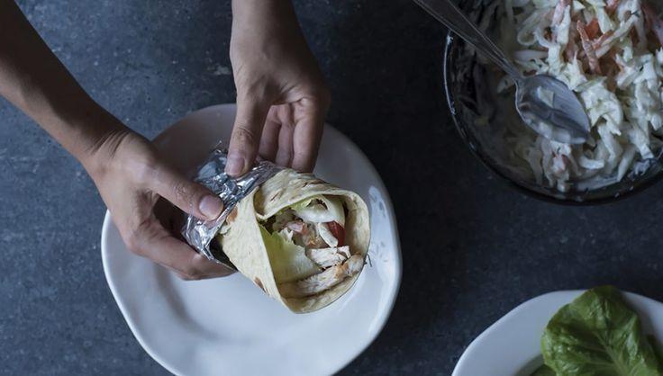 Piadina con pollo (chicken wrap)