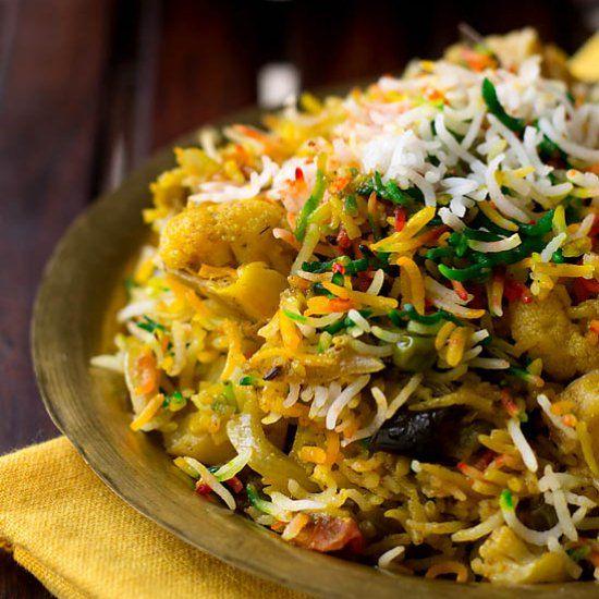 Hyderabadi Biryani is made with vegetables also known as Tahiri or Tarkari Biryani with stepwise instructions.