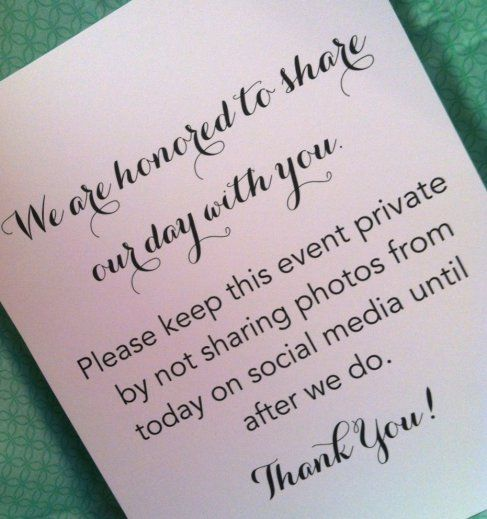 Best 25+ Unplugged wedding ideas on Pinterest | Unplugged ...