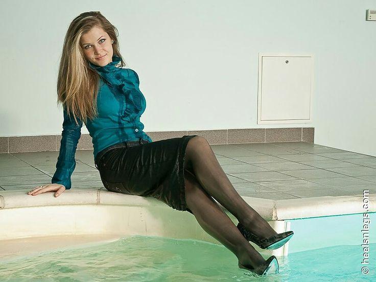 Wet Dress Shoe In Pool