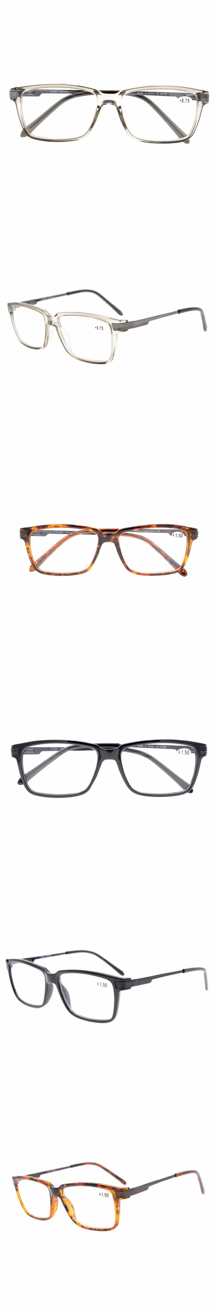 TR011 Eyekepper TR90 Frame Classic Spring Hinges Readers Stylish Crystal Clear Vision Reading Glasses +0.50---+3.00