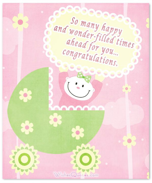 Baby Shower Message For Card: Baby Girl Congratulation Messages With Adorable Images