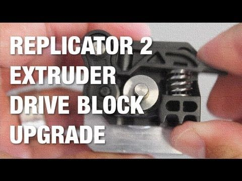 This video shows the process I went through to upgrade my MakerBot Replicator 2 extruder drive block assembly. I've had many PLA extrusion failures over the ...
