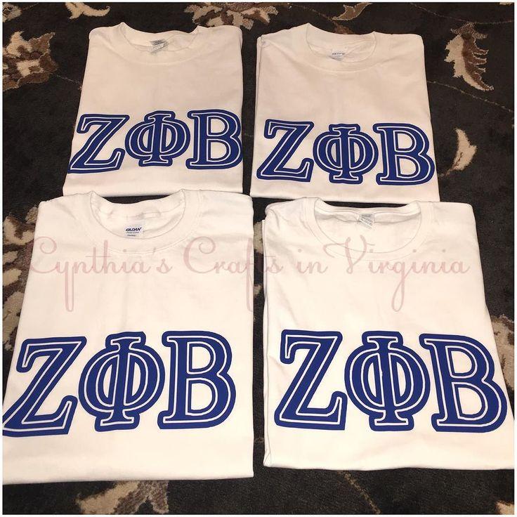 Custom Made Sorority T-Shirts  #personalized #stahls #zetaphibeta #finerwomanhood #zetaphibetawoodbridge #sorority #sisterhood #custommade #customtshirt #tshirts #royalblue #cynthiascraftsinvirginia #phikappaalpha #repost #soror #sororitylife