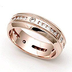 14k Rose Gold Channel set Diamond Eternity Wedding Band Ring (H/SI, 1/2 ct.)