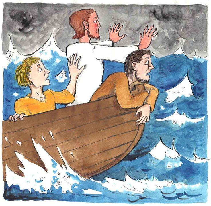 Bildergebnis für jesus und die jünger im sturm