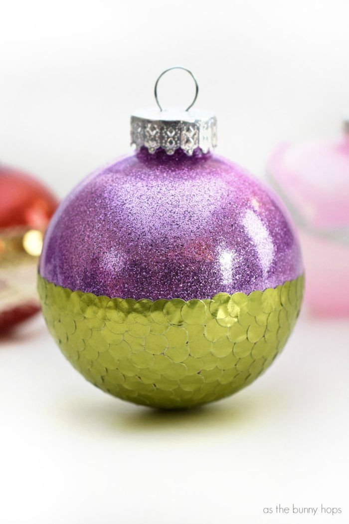 Craft up some Disney-inspired fun with some sparkly princess ornaments!  These DIY Christmas ornaments include Moana, Ariel and Sleeping Beauty! - Craft Up Some Disney-inspired Fun With Some Sparkly Princess