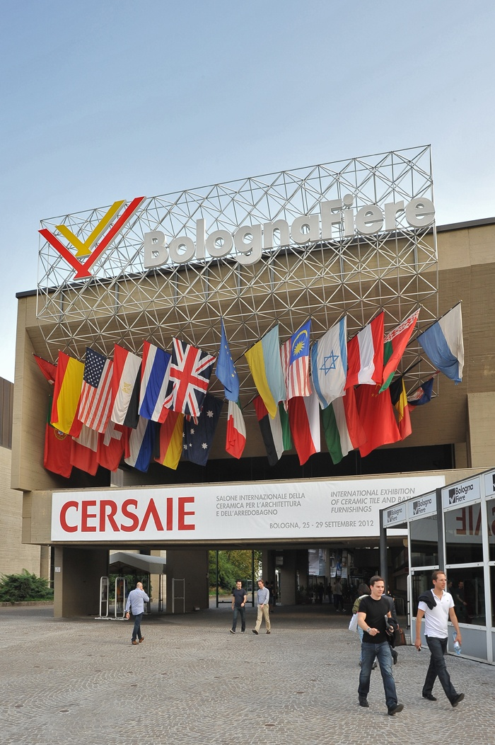 Entrance to the #Cersaie fairgrounds in Bologna