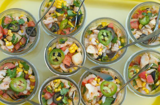 Mixed Seafood Ceviche - The Kitchenthusiast   @sandycoughlin