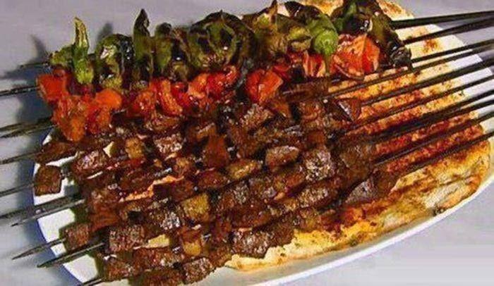 kabab e jegar (liver) an Iranian food