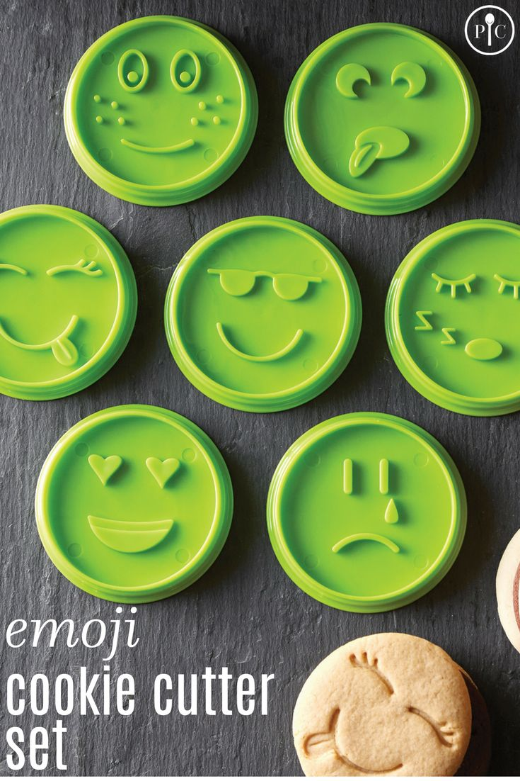 Whether you're having a party, making a gift, or just having fun in the kitchen, the Emoji Cookie Cutter Set is the cutest way ever to get kids cooking. Recommended for ages 6 and up.