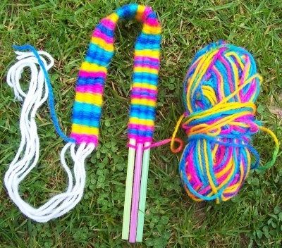 We could make bracelets and relate it to Mexican and Guatemalan traditional weaving.  I have examples of the weaving that I could bring in.