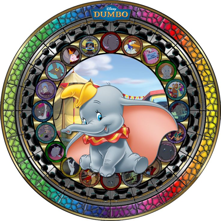 Masterpiece Dumbo Stained Glass by Maleficent84.deviantart.com on @deviantART