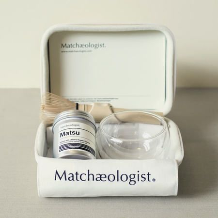 This is a beautiful and sophisticated kit for the matcha devotee. Created by the matcha experts at Matchaeologist, this set of high grade matcha green tea along with handmade matcha equipment is exactly what you or the gift recipient needs to elevate a wo