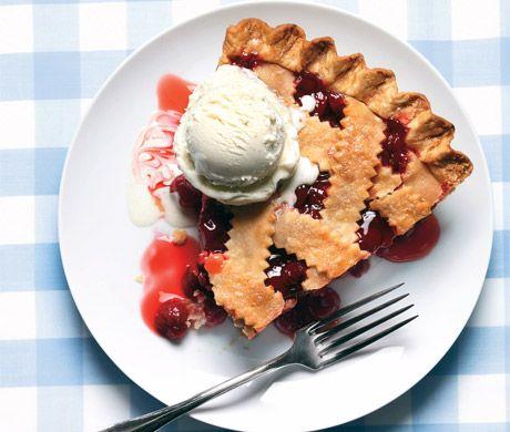 Classic Sour Cherry Pie with Lattice Crust Recipe by epicurious #Pie #Sour_Cherry