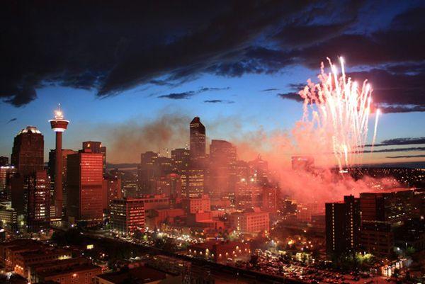 Calgary Canada Day Fireworks #YYC