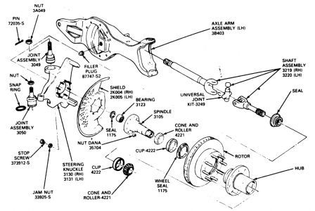 dana 44 rear axle diagram 89 f150 4x4 front wheel bearing left shaft and joint 1978 jeep dana 44 front axle diagram