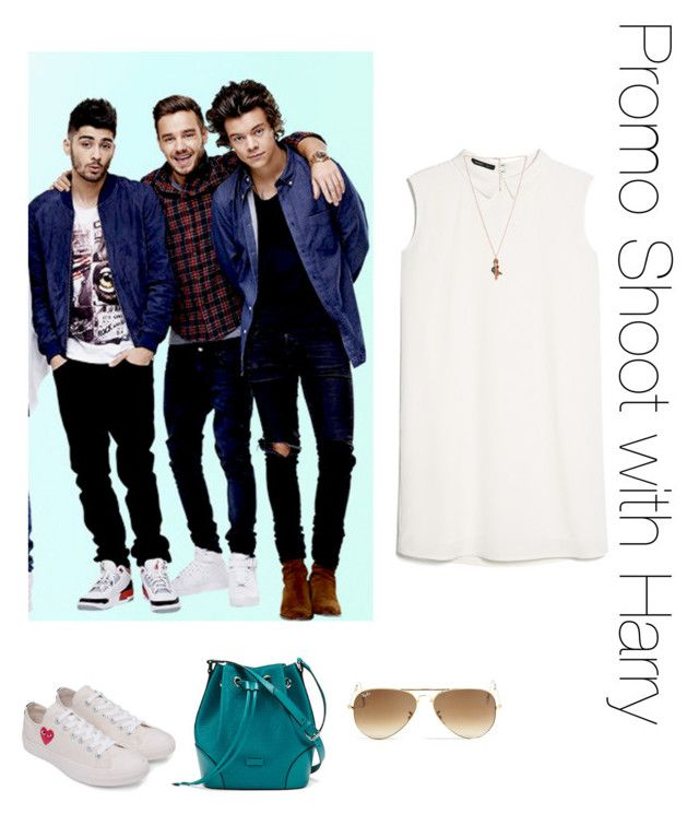 """Promo Shoot with Harry"" by thetrendpear-eleanor ❤ liked on Polyvore featuring MANGO, Converse, Gucci, Ray-Ban and Forever 21"