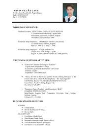 Image result for sample of a resume