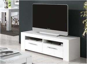 Cubo Soft Gloss White TV Unit LCD Plasma Stand Cabinet