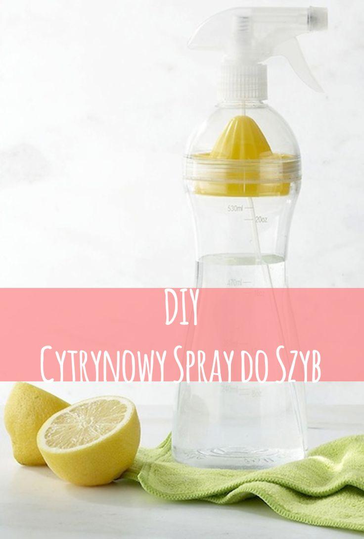Przepis na prosty, skuteczny i tani spray do szyb.