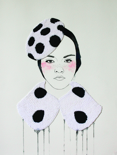 loving on Izziyiana Suhaimi & her watercolors + thread artworks: Izziyanasuhaimi, Art Illustrations, Singaporean Artists, Fashion Embroidery, Izziyana Suhaimi, Artsy Fartsi, Crafts Supplies, Embroidery Art, Fashion Illustrations