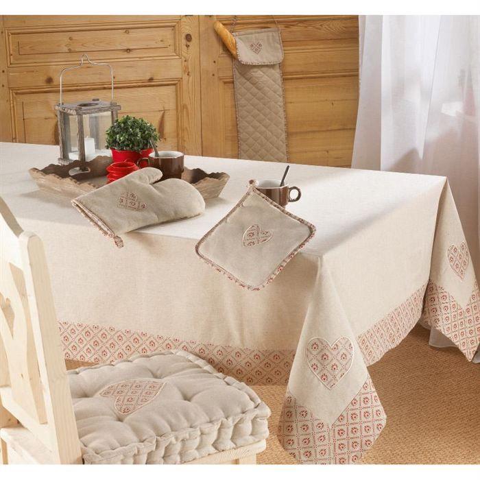NAPPE DE TABLE Nappe de table 150x240cm COTTAGE LIN