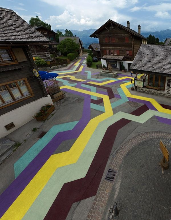 Colorful, Striking Street Art That Is Painted Directly Onto Asphalt Roads