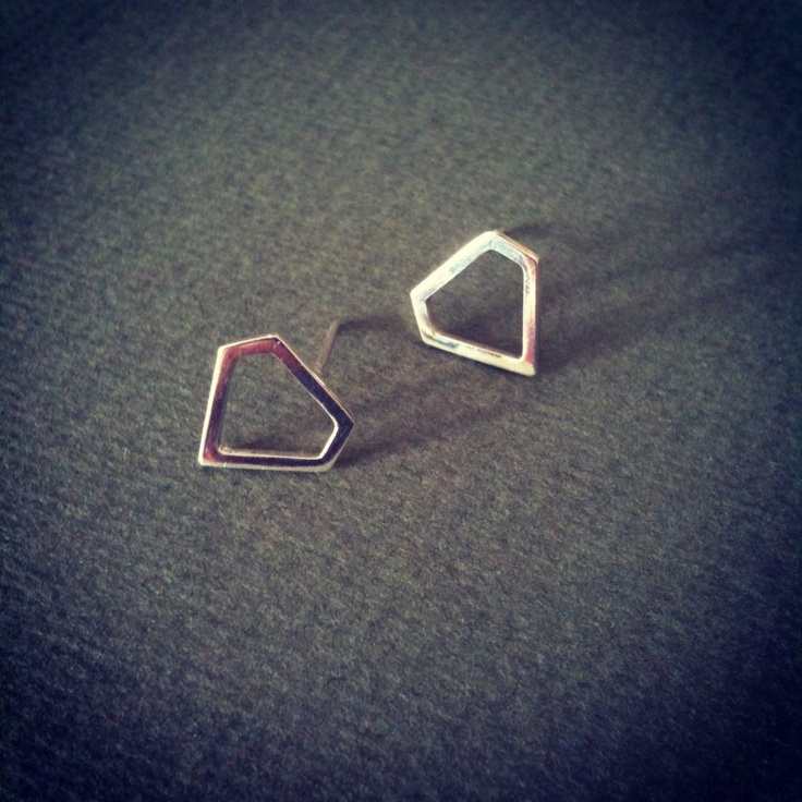 Tiny Diamond Shaped Earrings