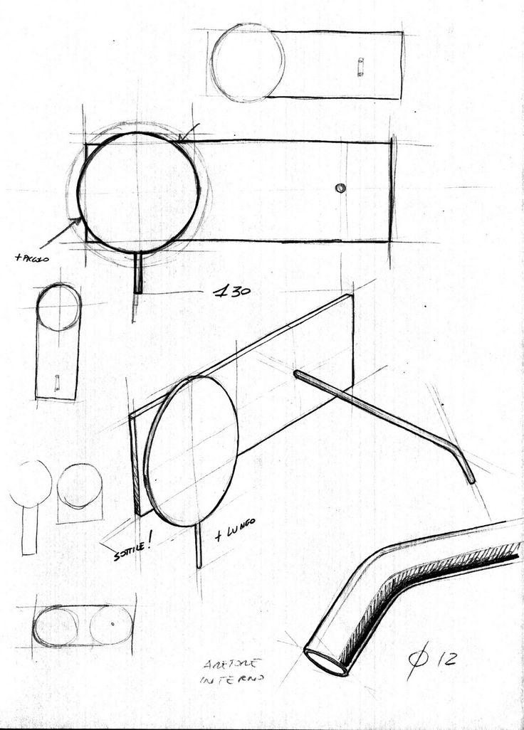COLIBRÌ Rubinetto per lavabo a muro Collezione Colibrì by Fantini Rubinetti design Angeletti Ruzza Design
