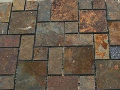 Kakadu Rustic Geometric on mesh sheets Suited to Driveways, Pathways and patio areas. SALE NOW ON