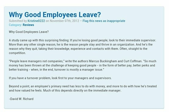 Why Good Employees Leave Company Reason Is Their Managers