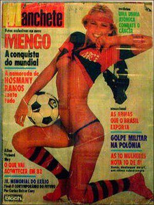 Xuxa com a Camisa do Flamengo