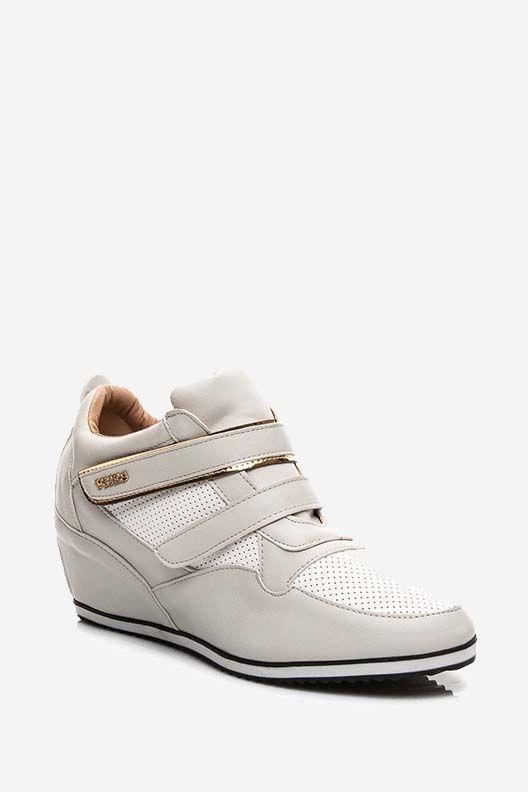 Trampki sneakersy na rzepy szare