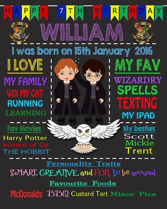 Harry Potter Themed Digital Download Chalkboard  by Beauladigitals
