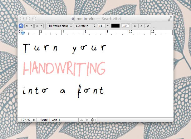 Turn your handwriting into a font | Melimelo