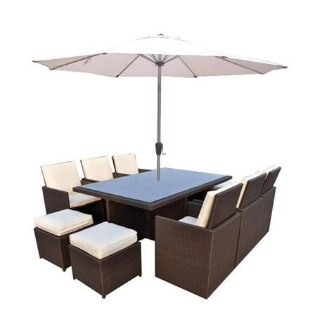 10 seater garden cube set and parasol liberty garden furniture from furniture village - Furniture Village Garden Furniture