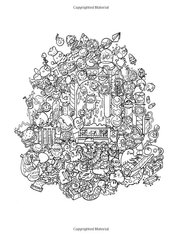 414 Best Doodle Invasion Coloring Pages Images On