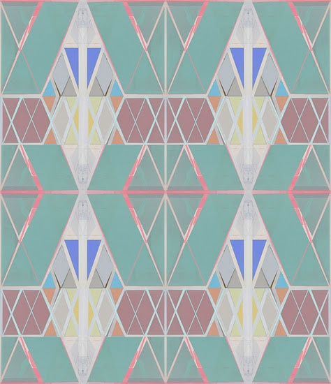 pretty pattern. love jade green and mauve combo. and some cerulean blue to tie it together.