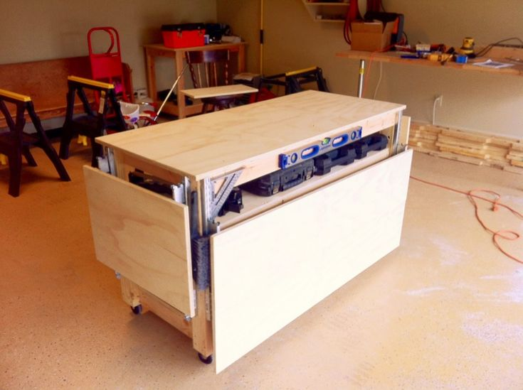 Garage, Splendid Garage Workbench Design Plans Wall Mounted Garage: Garage Workbench with Drawers