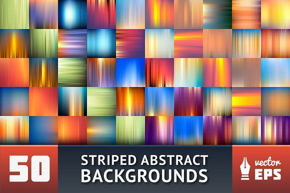 50 Striped Abstract Backgrounds by MastakA on @creativemarket