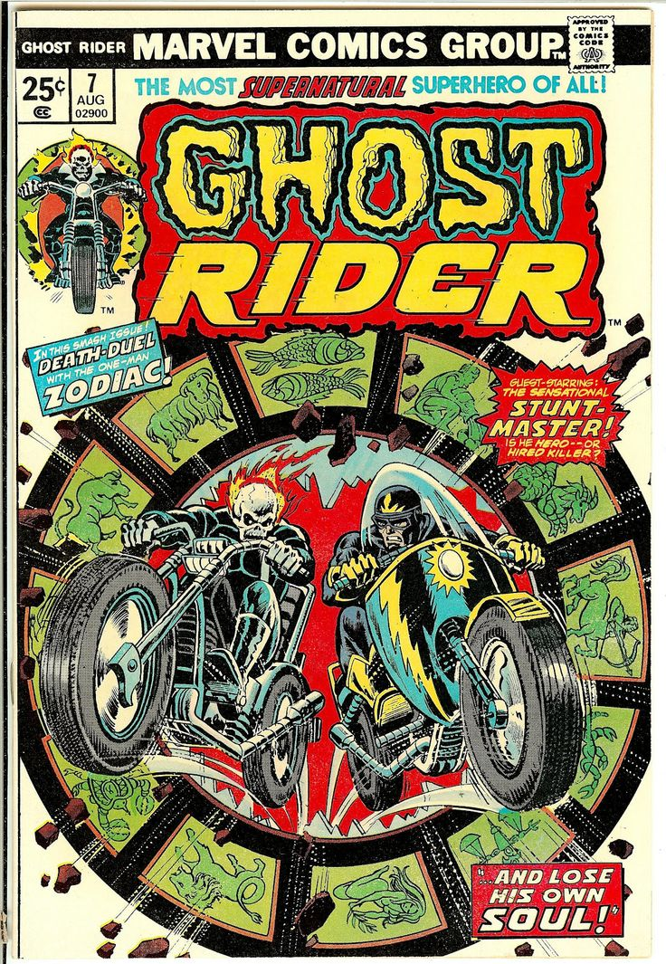 Motoblogn: Classic Ghost Rider Comic Book Covers