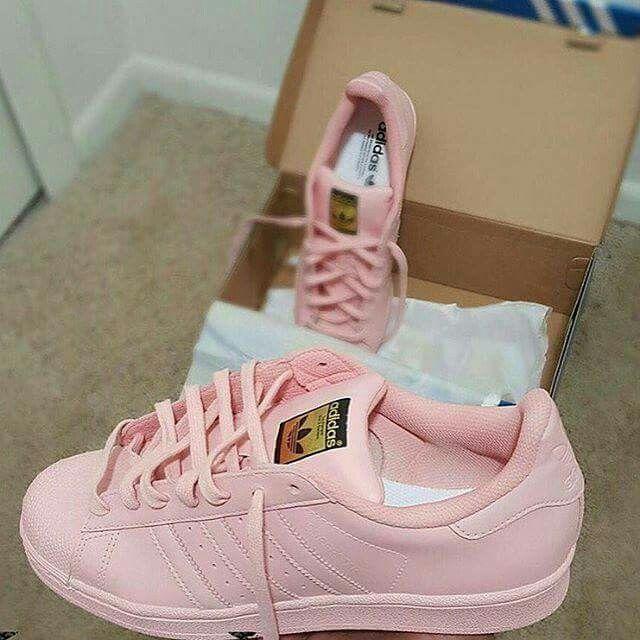 Custom Baby Pink Adidas @GottaLoveDesss
