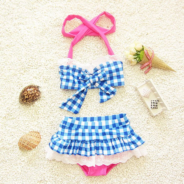 girls bikinis 2017 checks swimsuit kids two pieces children bikini swimwear disfraces infantiles swimming girls bathing suits
